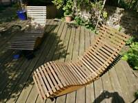 Wooden Garden Chairs Loungers Rocking Deck Recliners + Delivery
