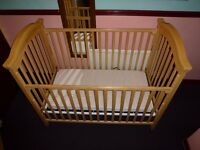 LUXURY BABY COT WITH COMPLETE BEDDING ETC.