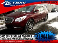 2015 BUICK ENCLAVE AWD LEATHER CUIR,7 PASS,TOIT,GR.REMORQUAGE