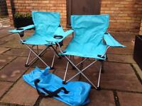 Pair of child's camping chairs