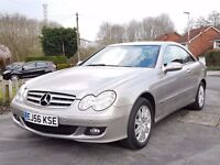 2006/56 Mercedes CLK C220CDi ELEGANCE COUPE - ONLY 63,000 MILES - FSH - FULL LEATHER + PARKTRONIC