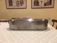 Stainless Steel Fish Poacher - 50 cm x 11 cm. Perfect condition, never used