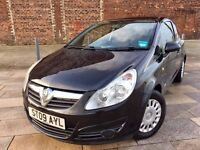 2009 VW CORSA DIESEL ++ BLACK ++ CD PLAYER ++ POWER STEERING ++ GREAT FUEL ECONOMY ++ FULL MOT.