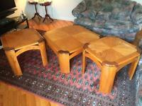 3 Wood tables