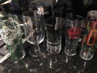 Branded pint glasses