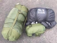 Selection of sleeping bags