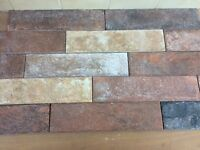 Brick effect wall tile
