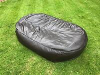 Giant Beanbag - Chocolate Brown Faux Leather Bean Bag