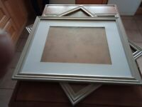 THREE 3 PICTURE FRAMES LIGHT WOOD FINISH