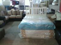 Sweet dreams Katie memory mattress and 2 drawer divan base and headboard new in package