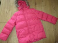 IMMACULATE COAT in PINK age 8-9 - like new condition