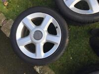 Audi TT alloy 5 stud wheels