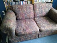 Two seater sofa and matching easy chair