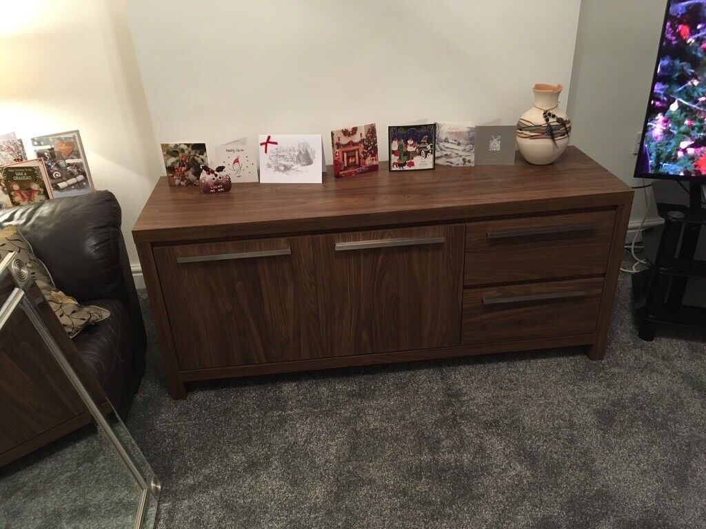 Next Dark Wood Effect Sideboard And Matching Nest Of Coffee Tables In Church Village Rhondda Cynon Taf Gumtree