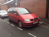 seat alhambra 1.9 tdi 7 seater family car for sale