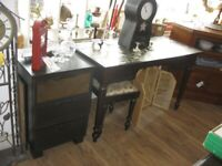 MODERN MATCHING ORNATE *DRESSING TABLE *PAIR BEDSIDES * STOOL