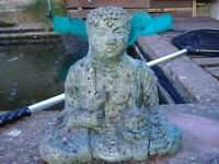 solid heavy oriental statues x3