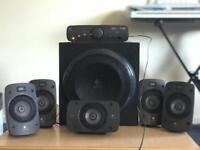 Logitech Z906 5.1 surround speakers with subwoofer