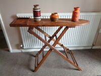 Vintage Pine Ironing Board for Display Purposes.