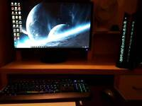 Gaming PC Asus Rog G20CB + GTX 950 + Acer Monitor + LED Keyboard and Mouse