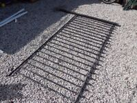wrought iron railings / metal fence / garden / patio / decking area / driveway / steel fence / iron