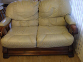 Pair of Leather Sofa's 1 x 2 seater and a 3 Seater