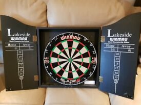 Dart Board and Wall Cabinet