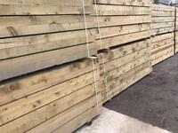 🛠£15 New Tanalised Wooden Railway Sleepers New