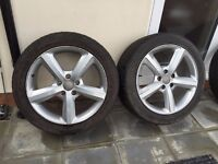 Original Audi Q7 Alloys 20 Inches 215/45 R20 - Tyres & Alloys are in good condition - Bargain !!