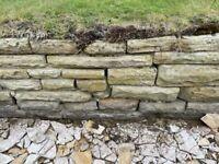 Yorkstone dry stone walling or rockery stone