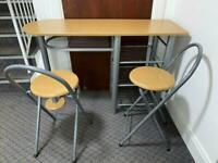 Desk or breakfast Bar with two stools