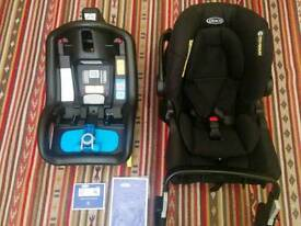 Graco evo car seat 0+ and snugsafe (isofix)