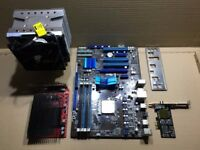 Asus motherboard, AMD Phenom ii quad core CPU, Nvidia 9500GT, 4Gb Ram and Black Gold Freeview Card