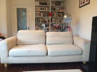 FREE CREAM 2 seater SOFA!!! Marked but has removable washable covers