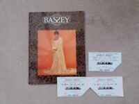 Shirley Bassey Programme - Thank You For The Years 50th Anniversary Tour Programme and Ticket Stubs