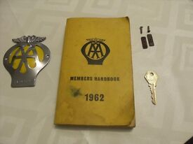 AA badge book and key