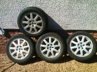 FOUR FORD FOCUS / MONDEO ALLOY WHEELS WITH TYRES