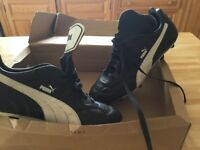 As new puma football boots size10