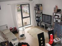 Top Floor Furnished Double Bedroom with Separate Office Apartment Secure Gated Parking Salford