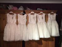 Bridesmaid flower girl dresses x 5