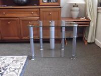 """Alphason Clear Glass TV Stand suitable for up to 32"""" TVs"""