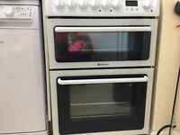 NEW Electric cooker Hotpoint HAE60PS - hob used 2/3 times, oven & grill unused - PERFECT CONDITION