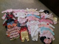 0-3 months girls clothes. All in v good condition