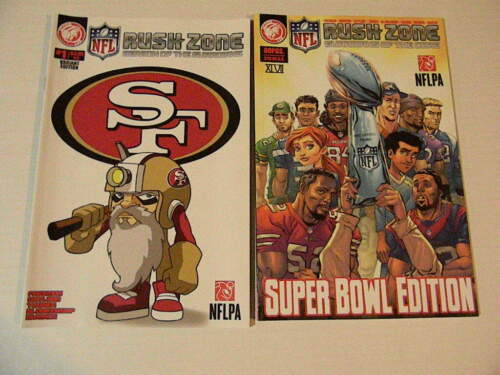 1 NFL RUSH ZONE GUARDIANS Lot: 49ERS VARIANT + SUPER BOWL TPB Action Lab 2013 +