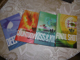 4 SAM HUTTON Special Agents Books unread - Deep End, Countdown, Kiss and Kill and FinalShot