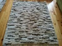 BRAND NEW 100% Wool Large Handmade Rug