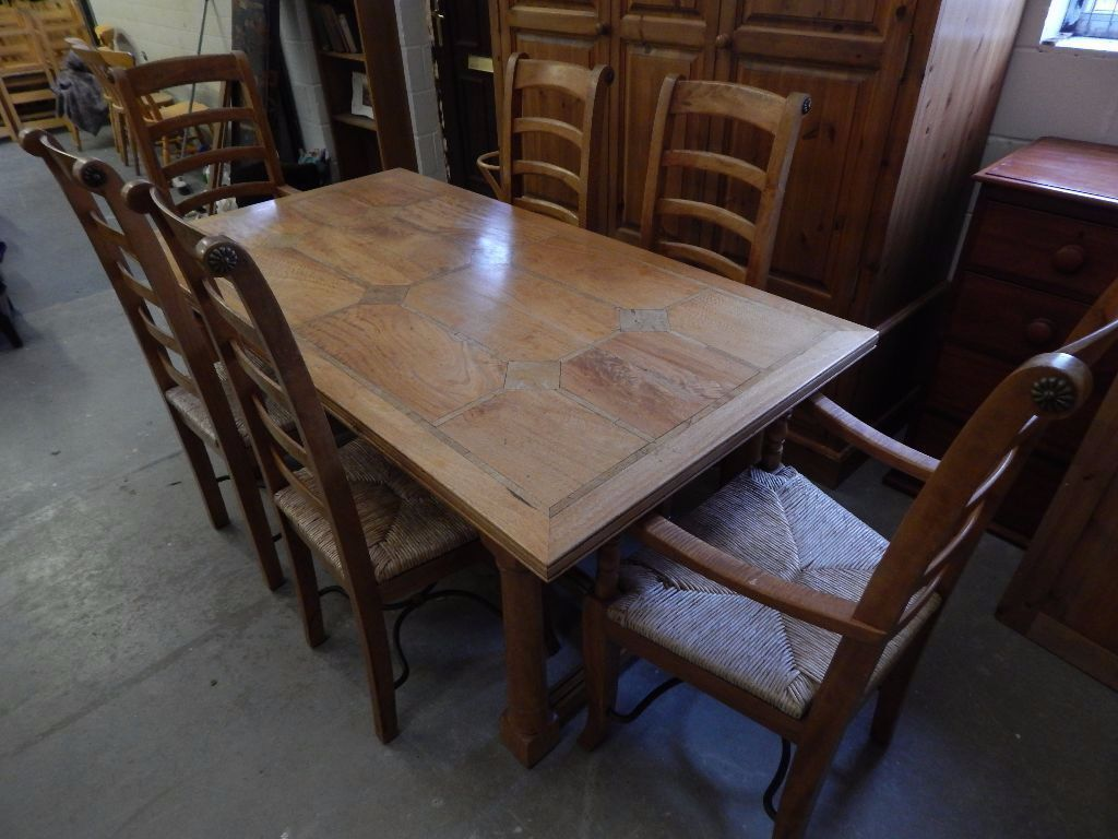 Flagstone Dining Table With 6 Chairs