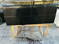 FAUX LEATHER BROWN KING SIZE PADDED HEADBOARD