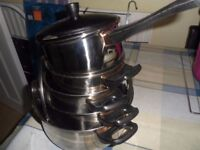 STAINLESS STEEL COOKING PANS (NEW)