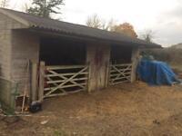 Large field shelter/stables Nr Ashford